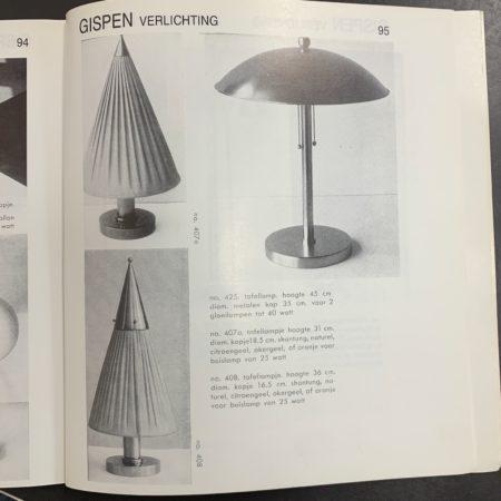 Gray-Blue Desk Lamp 5315 by W.H. Gispen for Gispen, 1950s