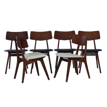 Dining Chairs by Louis van Teeffelen for Wébé, 1960s – Set of 6 Stavanger Chairs | Mid Century Design