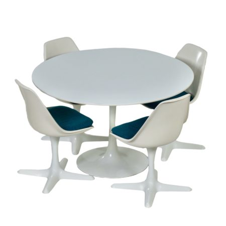 Tulip Dining Set by Maurice Burke for Arkana, 1960s | Mid Century Design