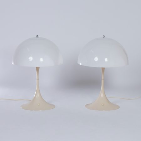 Panthella Table Lamps by Verner Panton for Louis Poulsen, 1970s – 1e Edition, Set of Two