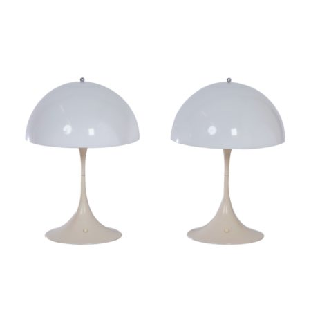 Panthella Table Lamps by Verner Panton for Louis Poulsen, 1970s – 1e Edition, Set of Two | Mid Century Design