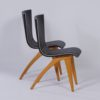 Dutch Dining Chairs in Bent Maple Wood by Van Os, 1950s – Set of Two