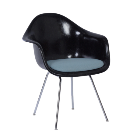 Black DAX Armchair by Charles & Ray Eames for Herman Miller, Fehlbaum, 1970s | Mid Century Design