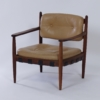 Leather Armchair in Rosewood by Coja, 1960s