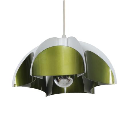 Metal Hanging Lamp by Volkslux, 1960s – Metallic Green | Mid Century Design