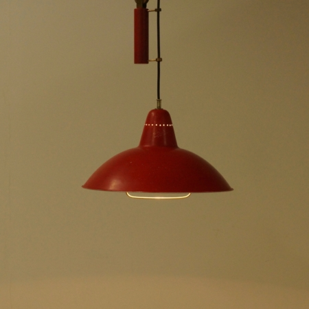 Counterweight Pendant attributed to Gino Sarfatti for Arteluce, 1940s