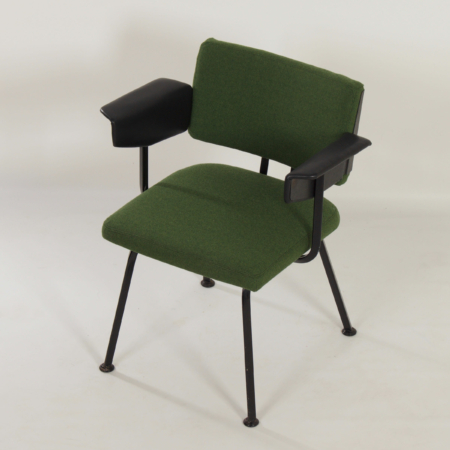 Industrial Armchair by Ahrend de Cirkel, 1960s – New Upholstery