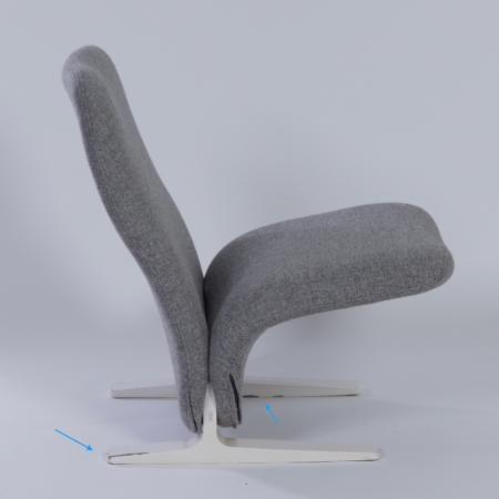 Concorde Lounge Chair F780 by Pierre Paulin for Artifort, 1960s – New Kvadrat Upholstery