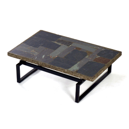 Brutalist Coffee Table with Mosaic by Paul Kingma, 1970s | Mid Century Design
