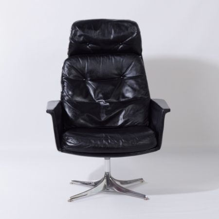 Sedia Swivel Chair by Horst Brüning for Cor, 1960s – Black Leather