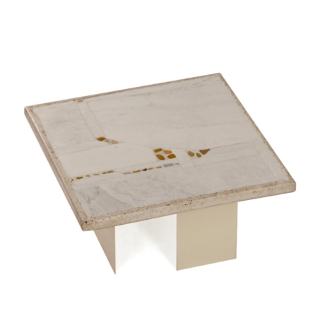 Small White Marble Coffee Table by Paul Kingma, 1980s | Mid Century Design