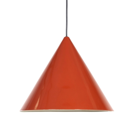 Billiard Hanging lamp by Arne Jacobsen for Louis Poulsen | Red enamel | Mid Century Design