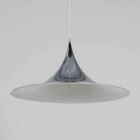 Big Semi Pendant by Bonderup and Thorup for Fog en Morup, 1970s | Chrome