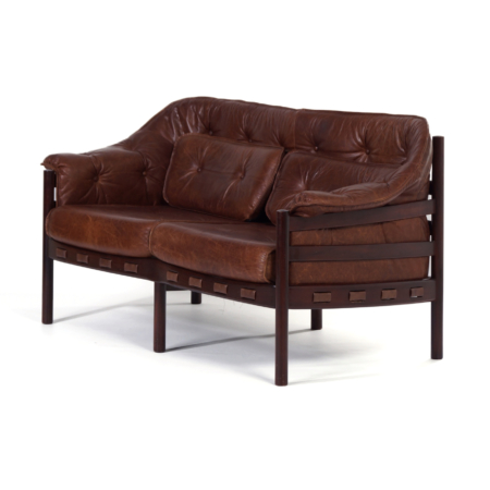 Leather Sofa by Sven Ellekaer for Coja, 1960s | Mid Century Design