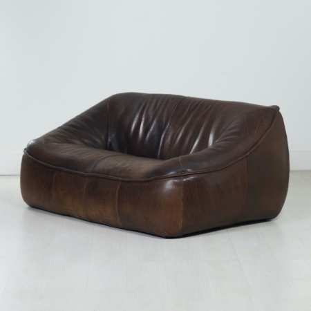 Leather 2-Seater Sofa Ringo by Gerard van den Berg for Montis, 1970s