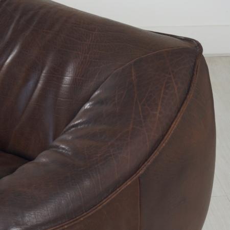 Leather 2-Seater Sofa Ringo by Gerard van den Berg for Montis, 1970s