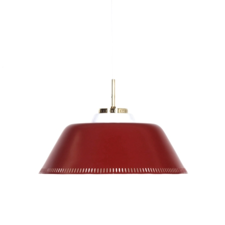 Red Danish Hanging Lamp by Bent Karlby for Lyfa, 1960s | Mid Century Design