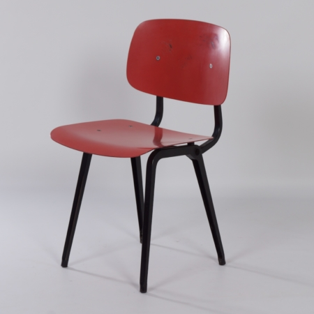 Red Revolt Chair by Friso Kramer for Ahrend the Circle, 1950s