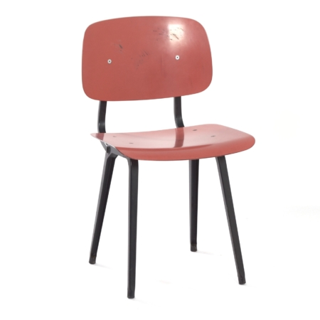 Red Revolt Chair by Friso Kramer for Ahrend the Circle, 1950s | Mid Century Design