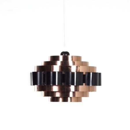 Copper Pendant by Werner Schou for Coronell Elektro, 1970s – Denmark | Mid Century Design