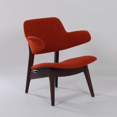 Wing Armchair by Louis van Teeffelen for Webe, 1960s – Reupholstered with Kvadrat Fabric