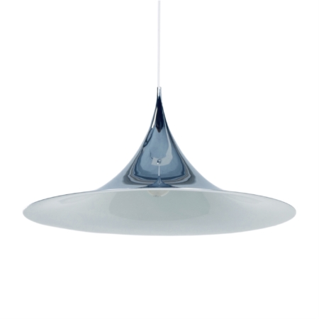 Big Semi Pendant by Bonderup and Thorup for Fog en Morup, 1970s | Chrome | Mid Century Design
