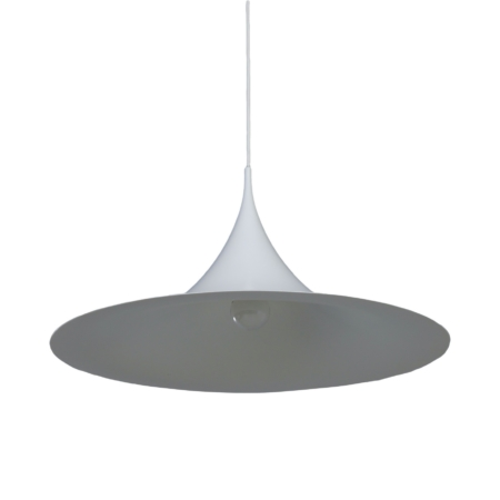 White Semi Pendant by Bonderup and Thorup for Fog Morup, 1960s | 60 cm | Mid Century Design