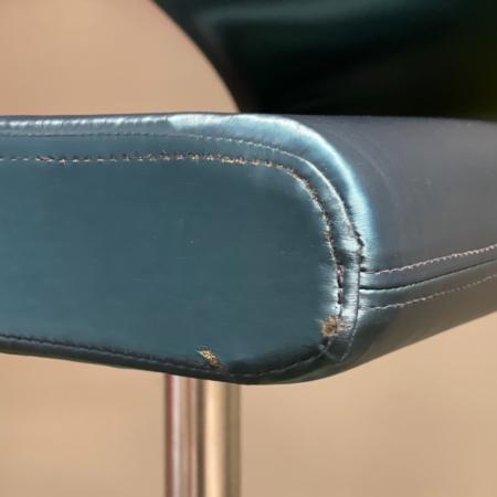 Innovation C Chair by Fredrik Mattson for Blå Station, 2000s – Green Satin Fabric