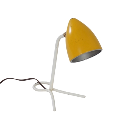 Yellow Desk or Wall Lamp by Busquet for Hala, 1950s | Mid Century Design