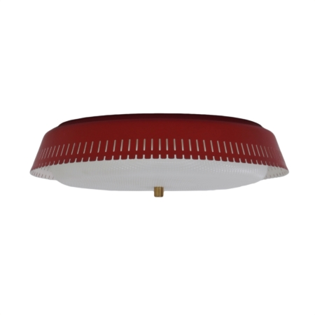 Red Bent Karlby Ceiling Lamp for Indoor, 1960s – Largest Version | Mid Century Design