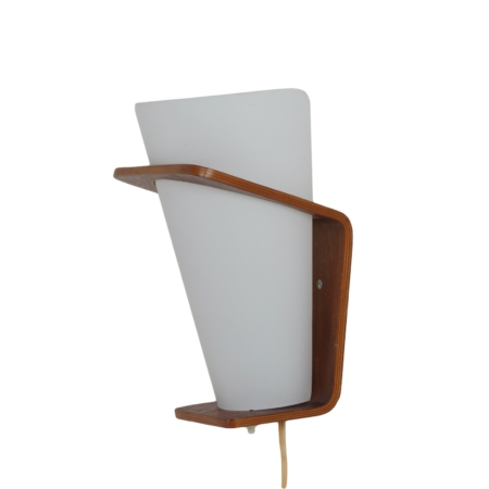Teak Wall Lamp NX 41 by Louis Kalff for Philips, 1960s | Mid Century Design