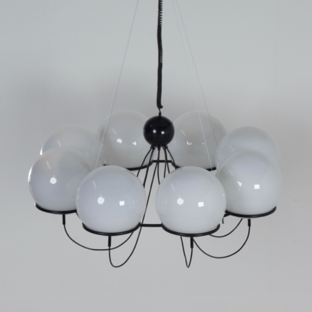 Saturnus Chandelier with Morning Mists by Raak, 1970s – 120 cm