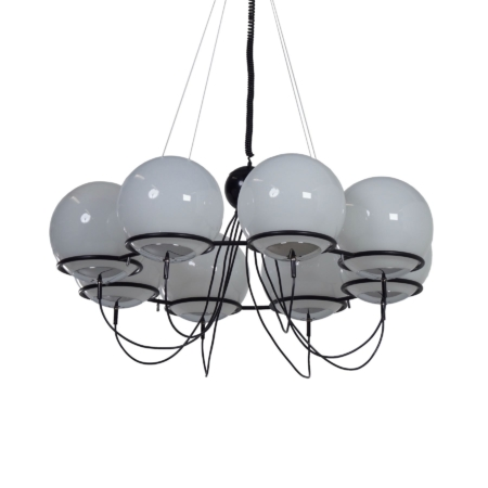 Saturnus Chandelier with Morning Mists by Raak, 1970s – 120 cm | Mid Century Design
