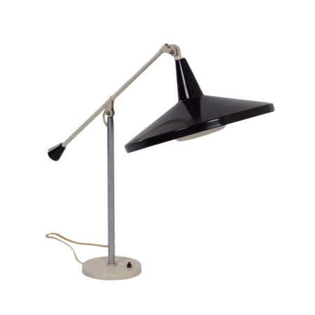 Panama Desk lamp 5350 by Wim Rietveld for Gispen, 1956 – Black | Mid Century Design