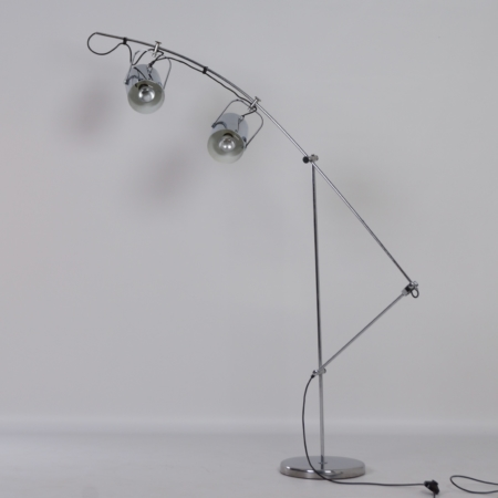 Chrome Sorrento Floorlamp  by Copini & Postuma for Gepo lamps, 1970s