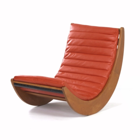 Relaxer 2 Rocking Chair by Verner Panton for Rosenthal, 1970s – Reupholstered