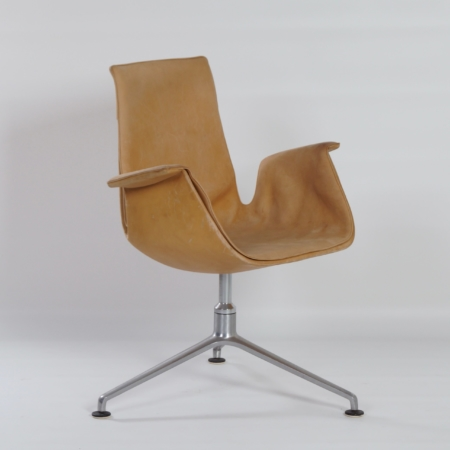 Tulip Swivel Chair by Kastholm & Fabricius for Kill International, 1960s | Beige