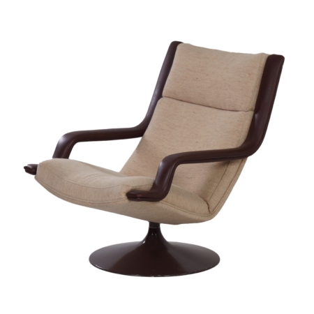Brown F140 Swivel Chair by Geoffrey Harcourt for Artifort in 1970s