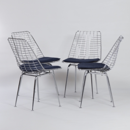 Flamingo Wire Chairs by Braakman and Dekker for Pastoe, 1960s – Set of 4