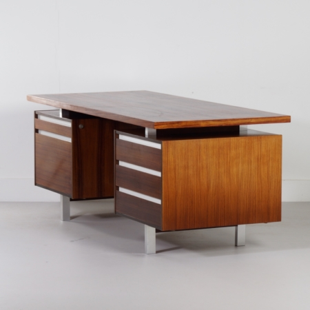 Rosewood Executive Desk by Kho Liang Ie for Fristho, 1956