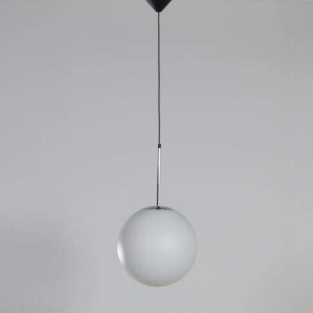 Pair of Satin Glass Pendants by Peill & Putlzer, 1970s