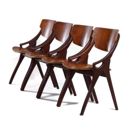 Teak Dining Chairs by Hovmand Olsen for Mogens Kold, 1960s – Set of 4 | Mid Century Design
