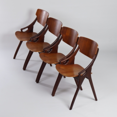 Teak Dining Chairs by Hovmand Olsen for Mogens Kold, 1960s – Set of 4