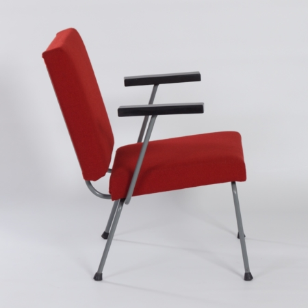 Red  1401 Armchair by Wim Rietveld for Gispen, 1950s