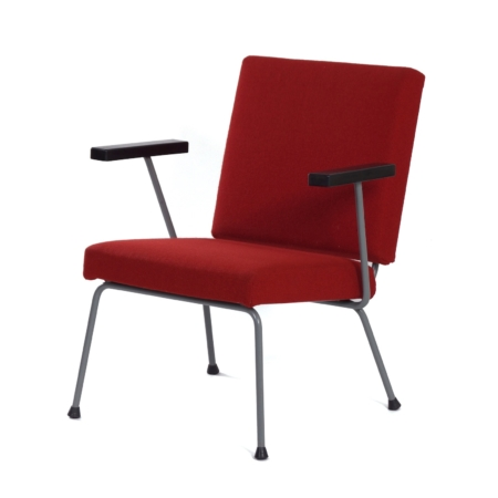 Red  1401 Armchair by Wim Rietveld for Gispen, 1950s | Mid Century Design