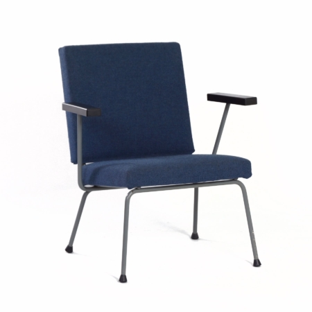 Blue 1401 Armchair by Wim Rietveld for Gispen, 1950s | Mid Century Design