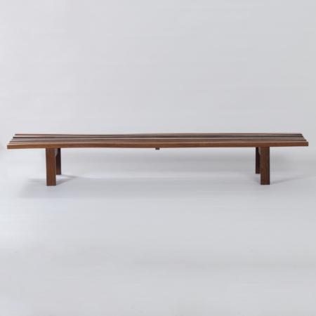 Wenge Slat Bench by Martin Visser for 't Spectrum, 1960s