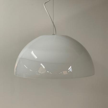 Murano Glass Pendant Ciompo by Vistosi Italy, 1970s