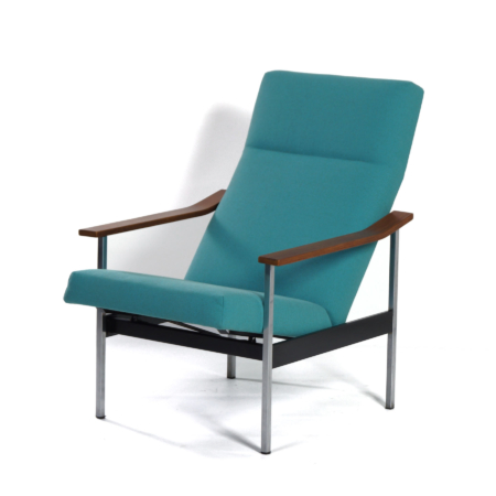 Adjustable 1425 Armchair by A.R. Cordemeyer for Gispen, 1960s | Re-upholstered | Mid Century Design