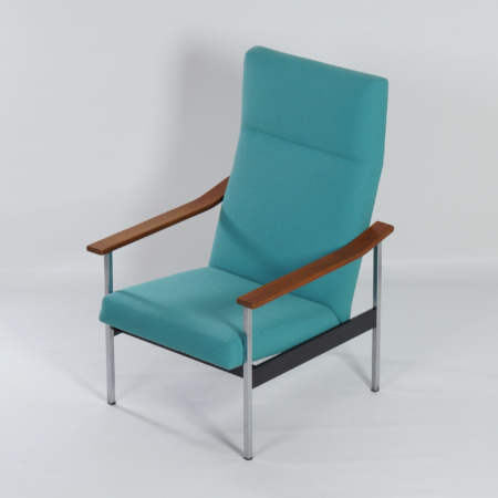 Adjustable 1425 Armchair by A.R. Cordemeyer for Gispen, 1960s | Re-upholstered